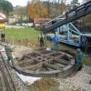 Installation d'une plaque à wagons