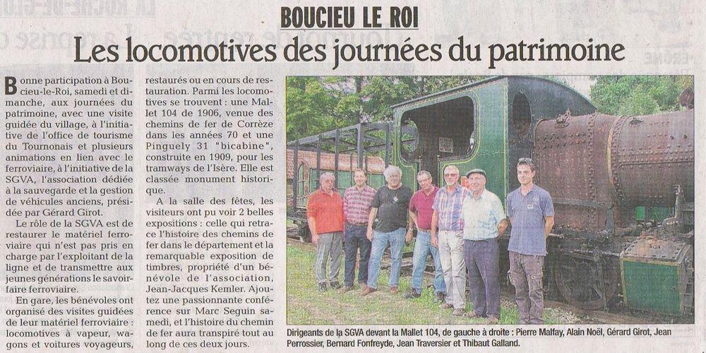 Article publié dans le Dauphiné Libéré du 19 septembre 2013