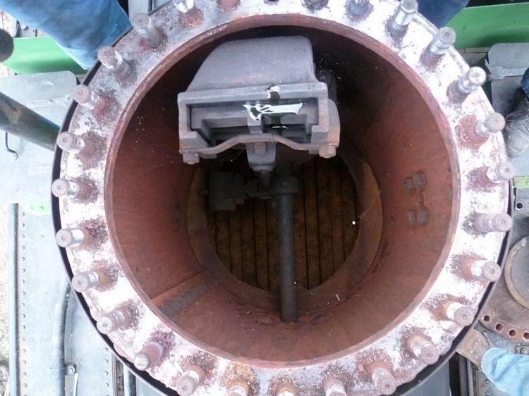 Après ouverture du dôme, le régulateur est bien visible - Photo SGVA