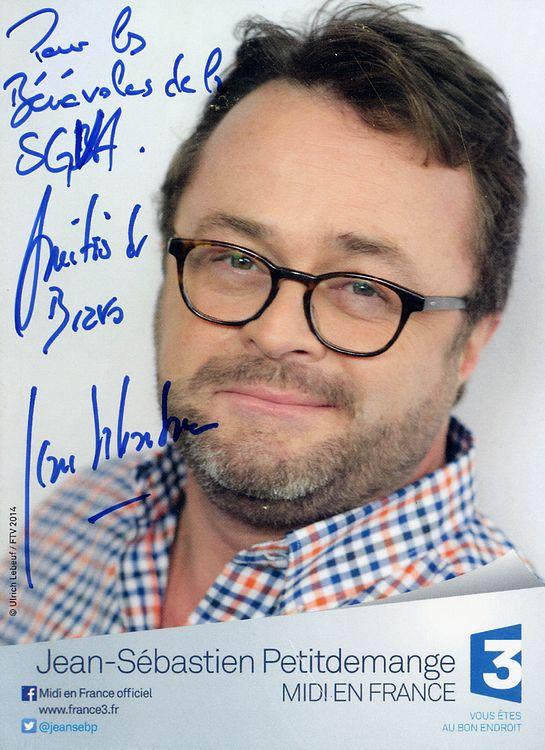 Autographe de Jean-Sébastien Petitdemange